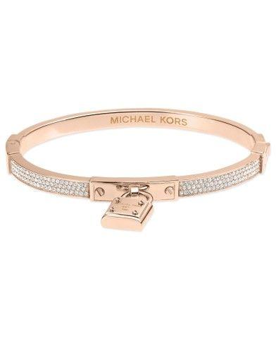 Michael Kors Bracelet, Rose Gold-Tone Padlock Charm Bracelet - Fashion Bracelets - Jewelry & Watches - Macy's