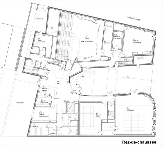Bernard Desmoulin architecte : Conservatoire Paul Dukas - ArchiDesignClub by MUUUZ - Architecture & Design