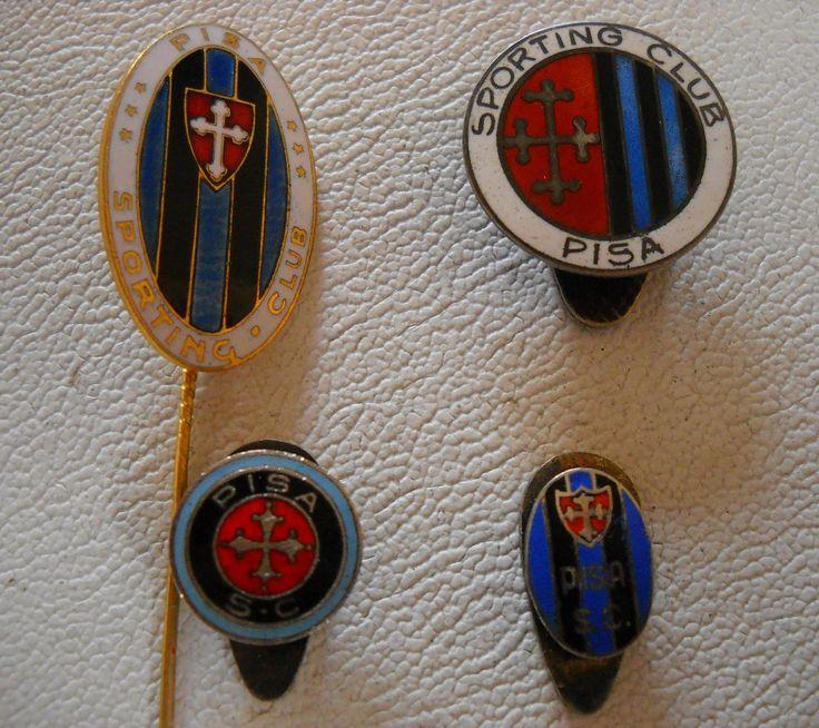 Serie di 4 distintivi del Pisa