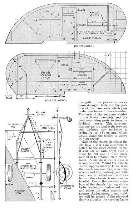 Vintage Teardrop Trailer Campers Chuck Wagon Plans: Wild Goose Teardrop Trailer Plans