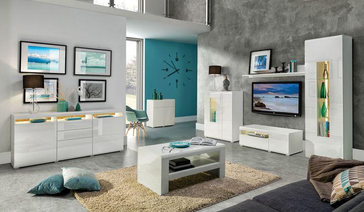 white furniture    białe meble    living room    bedroom    tylko na http://www.mirjan24.pl/meble-pokojowe/4865-meble-oxford-vi.html