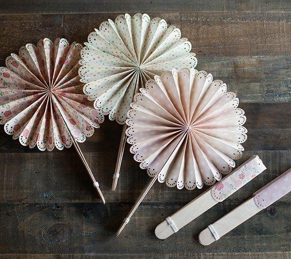 Paper Wedding Crafts: DIY Fans – Creativebug