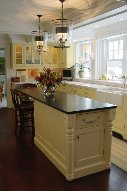 Narrow island | Narrow kitchen island, Simple kitchen ...