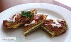 Receta de nopales rellenos con jamón y queso. Con fotografías paso a paso, consejos y sugerencias de deugstación. Recetas de cocina mexicana