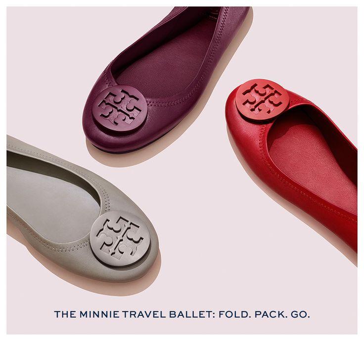 Minnie Travel Logo Ballet Flat by Tory Burch
