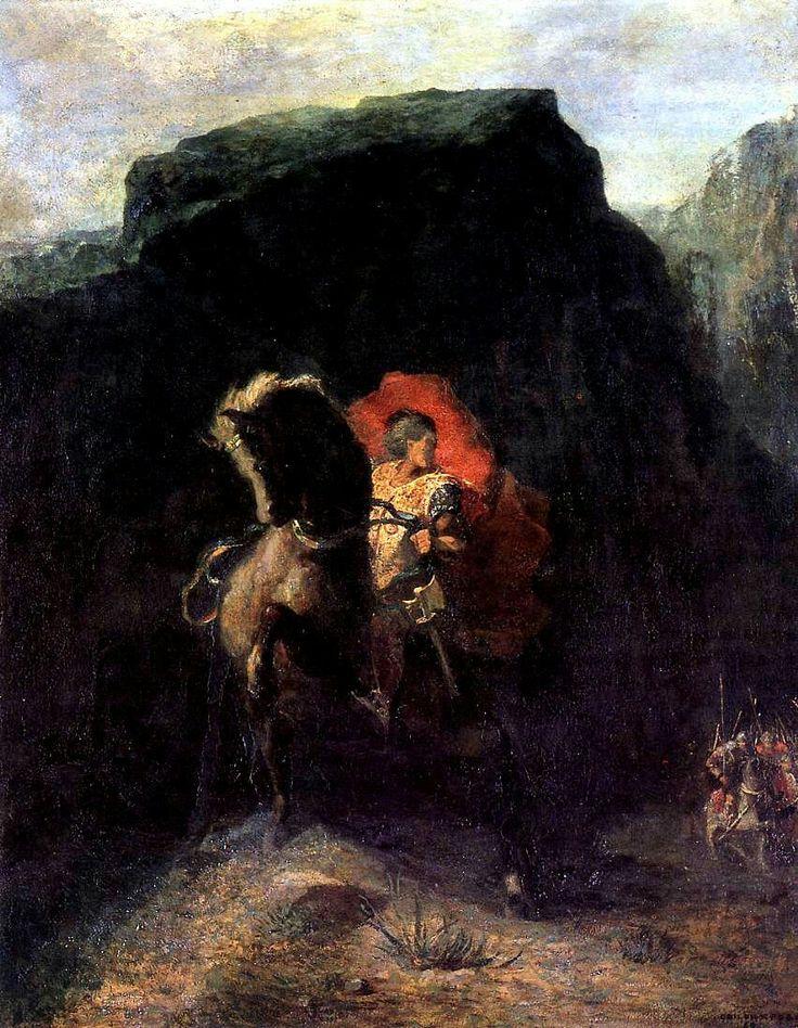 Odilon Redon - Roland at Roncevaux. 1868-69