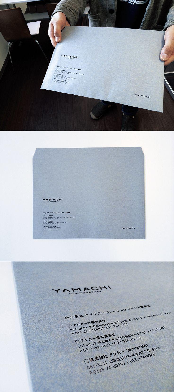 【当社オリジナル角2封筒】 ファーストヴィンテージ、箔押し加工 名刺の表現に合わせて箔押しにしました。