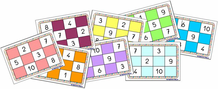 Jeux de nombres: Loto de 1 à 10 (d'après Vers les maths MS)