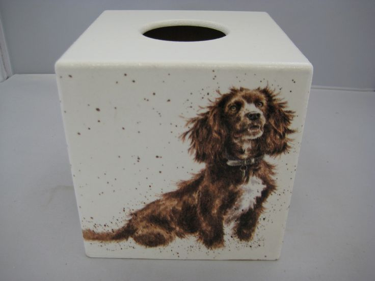 It a Dogs life Tissue Box Cover wooden handmade by crackpotscrafts on Etsy