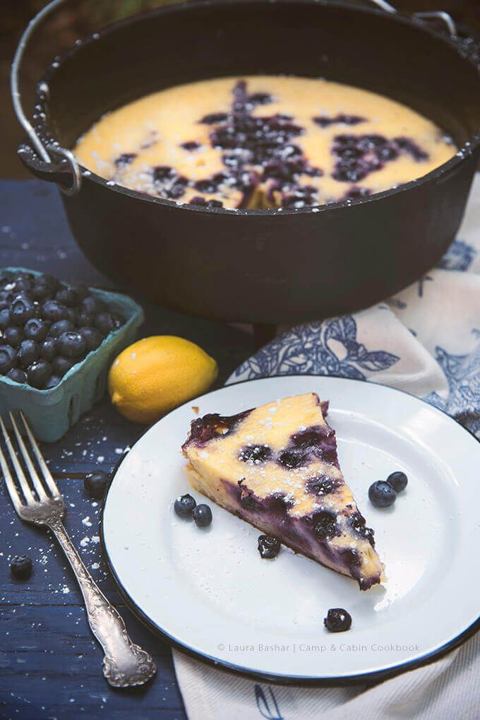 Dutch Oven Lemon Blueberry Clafoutis From The Camp Cabin