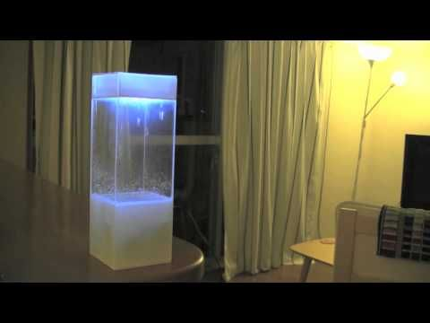 Tempescope: Showing the weather forecast within a rectangular prism.