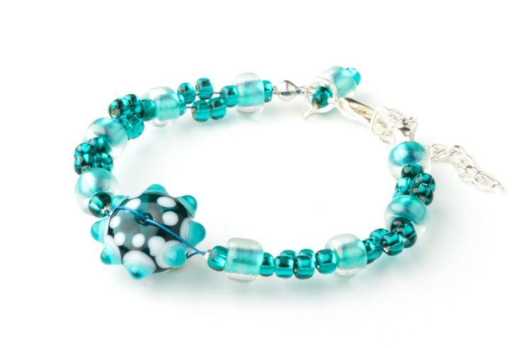 CORALLIA'S Malachite bracelet – lampwork glass by coralliaunique on Etsy