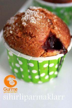 Vişneli Muffin Tarifi - Pratik Yemek Tarifleri. Gurme resimli kolay pratik Vişneli Muffin Tarifi nasıl yapılır yapılışı yapımı hazırlanışı