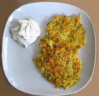 vegetarische Gemüseküchlein mit Joghurt-Dip Low Carb, GLYX und Trennkost geeignet