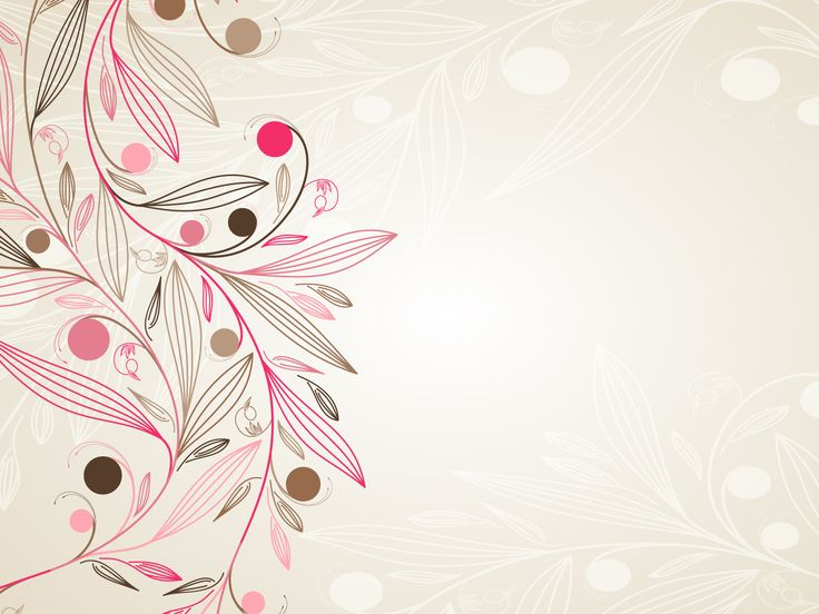 Floral Simple Download PowerPoint Backgrounds - PPT Backgrounds