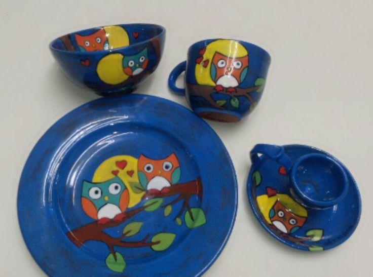 Baby plateset #babyplateset #painting #clay #handmade #pottery #painting