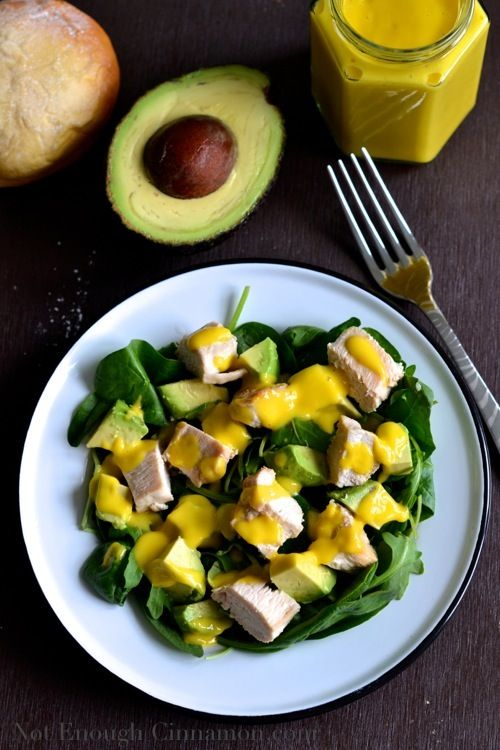 Grilled Chicken and Avocado Salad with Mango Dressing | Recipe