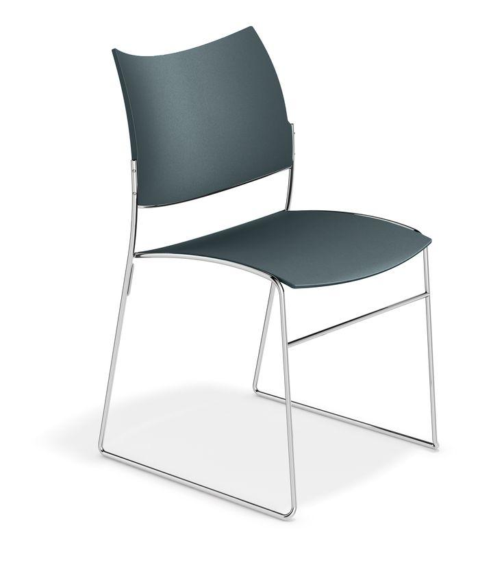 Casala - Curvy chair - New Plastic Colour - Graphite