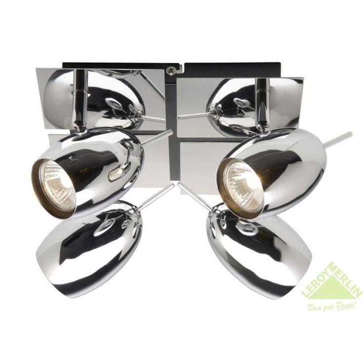 Спот Baron 4xGU10x35 Вт, хром, Накладные светильники (споты) - Каталог Леруа Мерлен