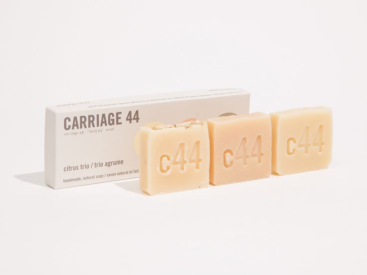 Citrus Trio Soaps | Carriage 44 | Small batch handmade soaps from Victoria, BC