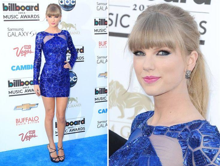 Trucco per un vestito blu corto lungo