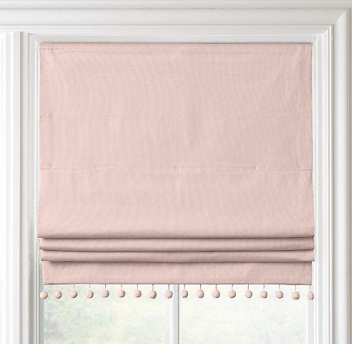 Pom-Pom Linen-Cotton Roman Shade