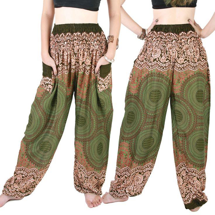 Harem Trousers - Aladdin Smock Pants Hippie Boho Jumpsuit Charm Aj105T