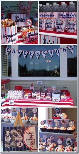baseball birthday party ideas kids parties concession stand candy and dessert bar