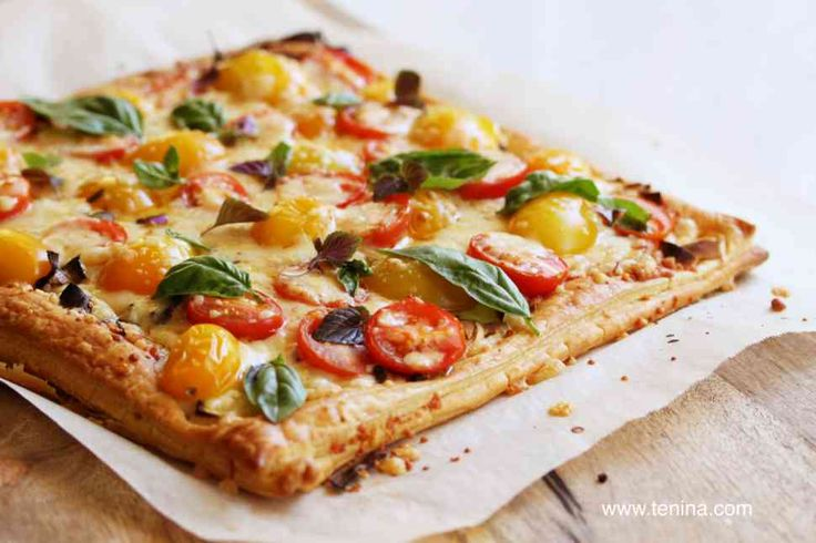 The leek and tomato tart that we all should eat at least once a year. Delicious hot or cold. Yummy home made puff pastry just tips this into sublime
