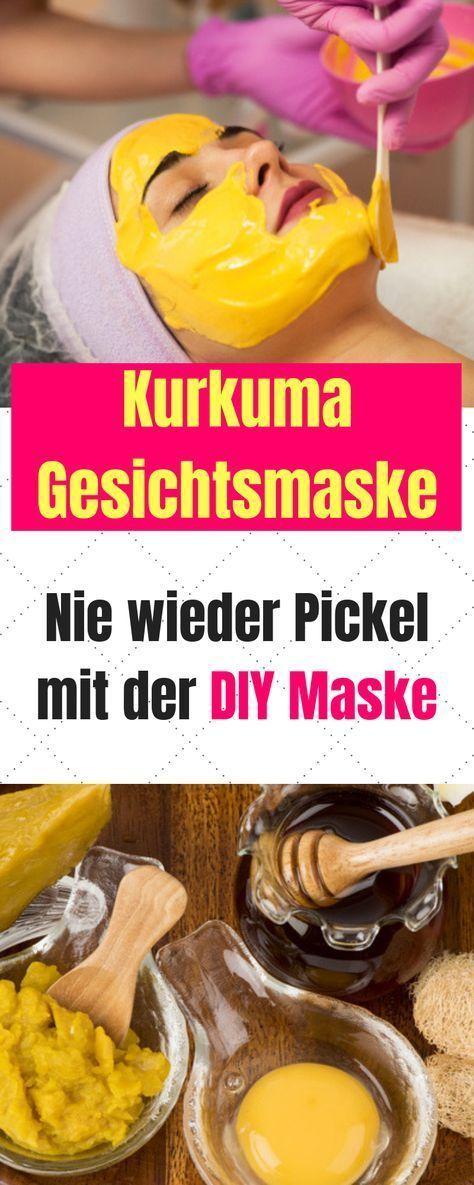 Turmeric face mask for a radiant skin  –  Hautpflege-Rezepte