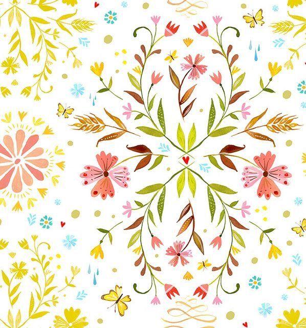 Florale muster malen print selbstgemacht mit papier - Muster malen ...