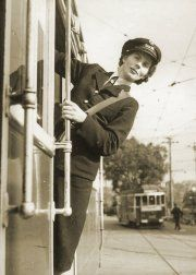 Shunting the Power Street shuttle, circa 1943. Photograph courtesy State Library Victoria.