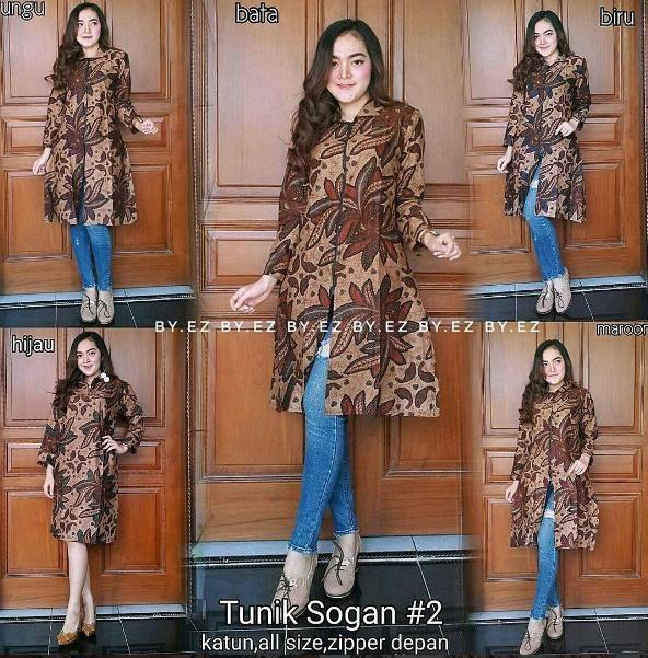 32 Koleksi Baju Batik Kerja Terbaru 2019 - Model Baju Muslimah Batik Terbaru  2018 63d1ae55ac