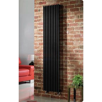 Tall radiator to replace old one that can fit along the wall and doesn't cut down on too much wall space for lower cupboards. Quinn Adagio Single Column Radiator - Vertical - Black - 6 x Size Options