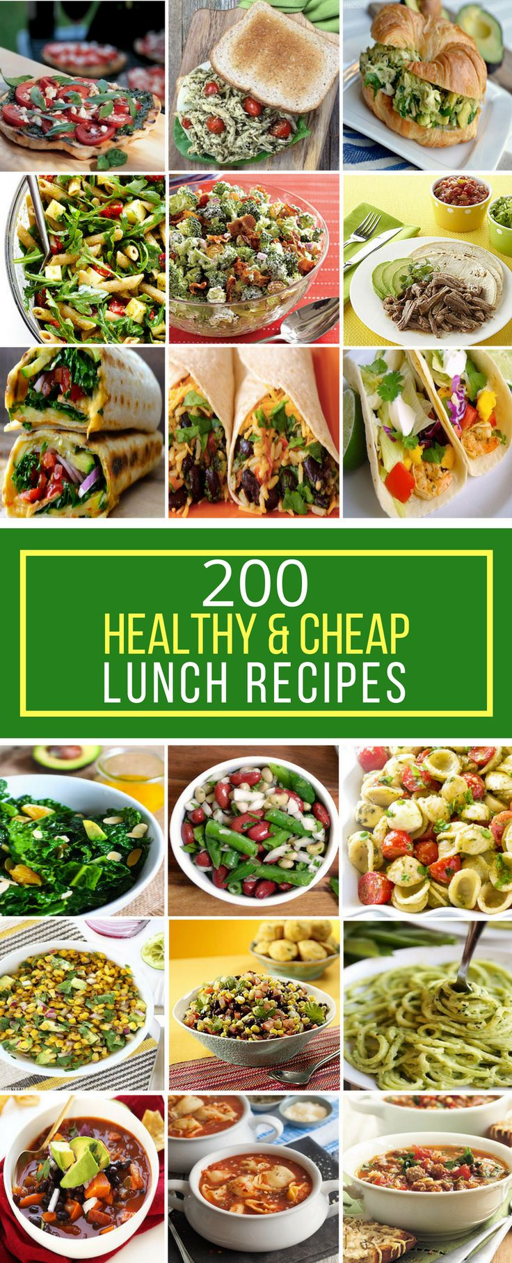 Cheap healthy food recipes - 200 Healthy Cheap Lunch Recipes