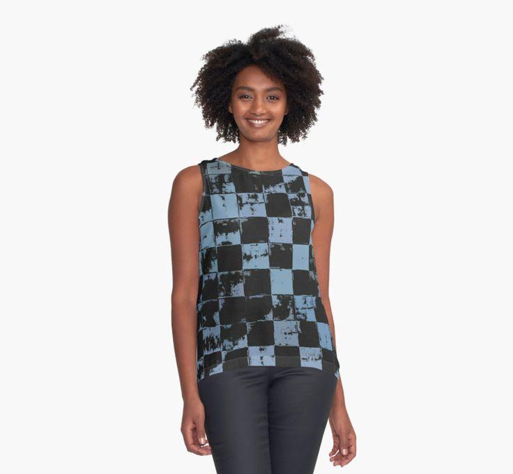 Blue and Black Bricks Pattern by cool-shirts
