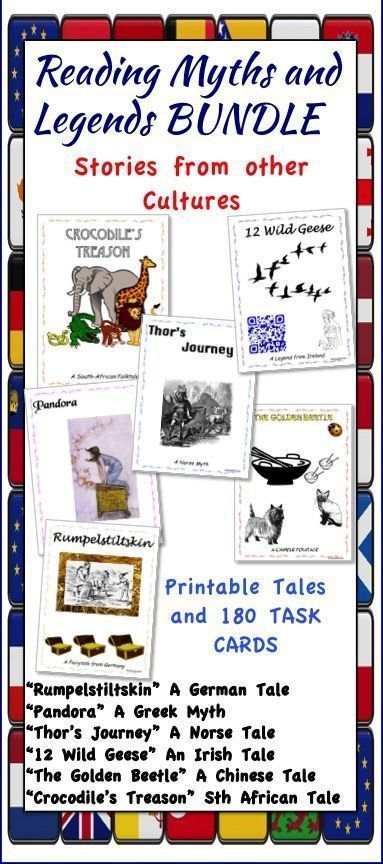 Great myths to entertain and then task cards to work on comprehension skills and digging deeper. Good for group activities.