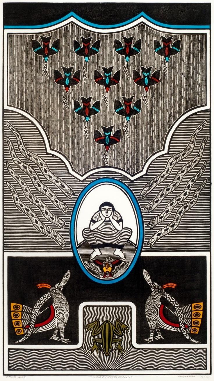 Gilvan José de Meira Lins Samico | Julia e a chuva de prata, 2005 | Xilogravura ed 13/120 | 93 x 52 cm | Foto: João Liberato.