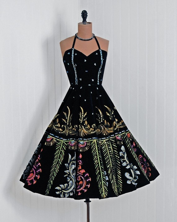 1950's Vintage Mexican Handpainted Dress