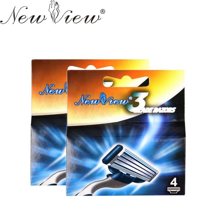 Newview 8 pcs männer gesicht rasur rasierklingen bart rasierer 3 schicht klinge männer hohe qualität sharp rasierer klinge für m3 mit paket