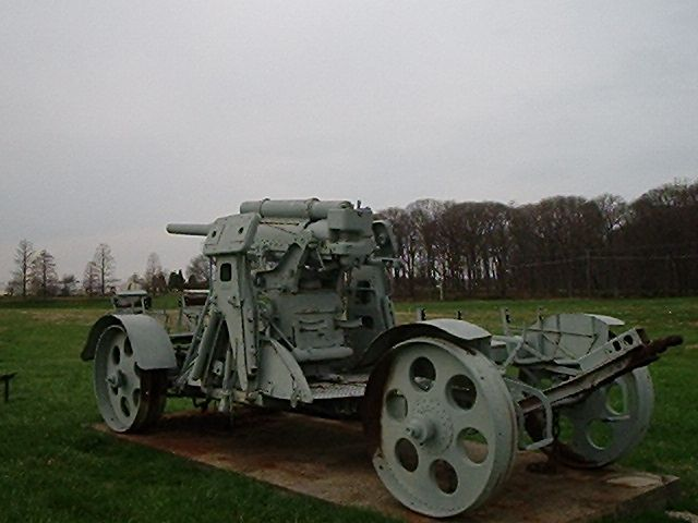 8.8cm  K-Flak Rheinmetall  M 1917 German Army  WW I in the Aberdeen Proving Grounds, in Maryland, USA.