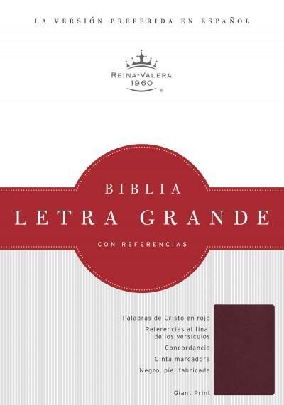 La Santa Biblia / Holy Bible: Rein-Valera 1960, Rojizo, piel biblia letra grande
