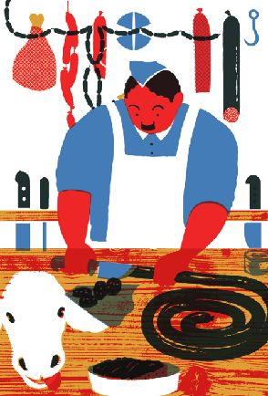I Know How To Cook - illustrations by Blexbolex