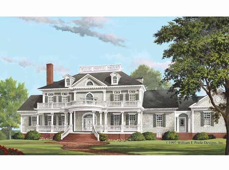 Eplans NeoClassical House Plan - Verandas - 5564 Square Feet and 4 Bedrooms(s) from Eplans - House Plan Code HWEPL11340