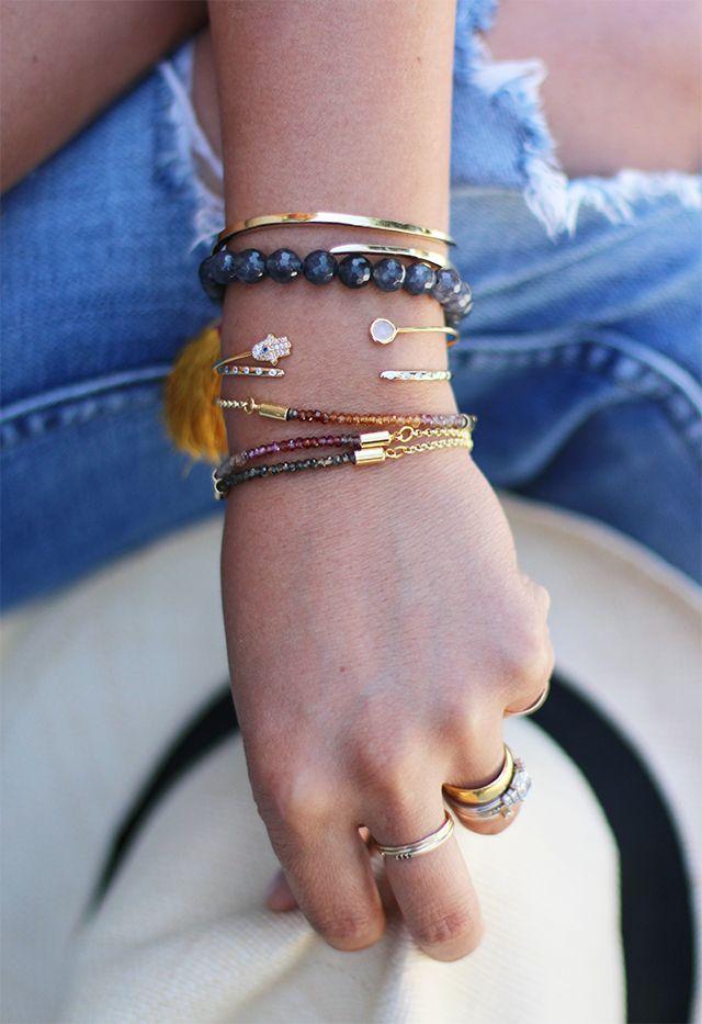 DIY ombré gemstone bracelet