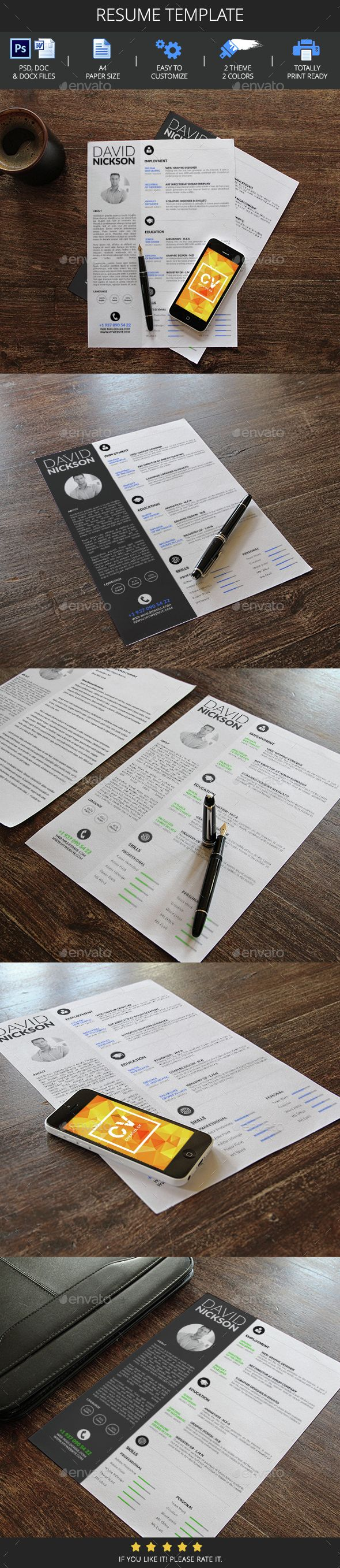 Resume Template 72 best Printable Design images