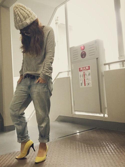 ピックアップタグ☆ロゴスウェット コカコーラの黄色ロゴスウェット。お気に入りで、結構前から着てます(