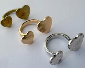 Anillos ajustables de corazón www.gscmoda.com #accesorios #anillos #moda