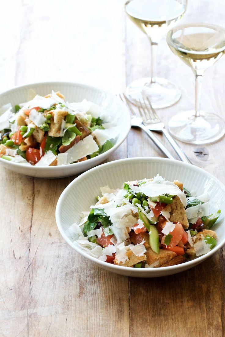Panzanella - toscansk salat med brød og tomater