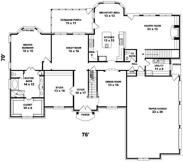82d314a69ce1cca01023d26f45c9d858 bedroom house plans house floor plans 155 best luxury style house plans images on pinterest,6 Room House Floor Plan